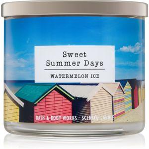 Bath & Body Works Watermelon Ice illatos gyertya Sweet Summer Days 411 g
