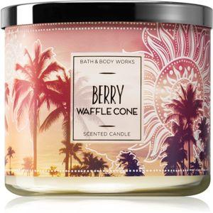 Bath & Body Works Berry Waffle Cone illatos gyertya 411 g