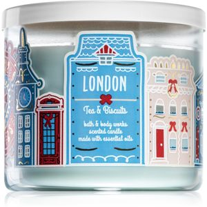 Bath & Body Works Tea & Biscuits illatos gyertya (London) 411 g