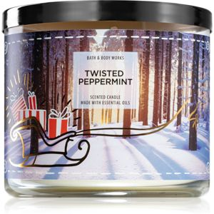 Bath & Body Works Twisted Peppermint illatos gyertya III. 411 g