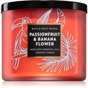 Bath & Body Works Passionfruit & Banana Flower illatos gyertya 411 g