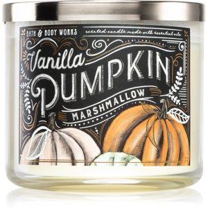 Bath & Body Works Vanilla Pumpkin Marshmallow illatos gyertya esszenciális olajokkal 411 g