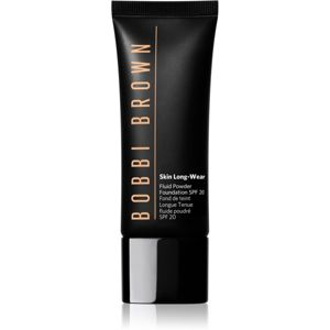 Bobbi Brown Skin Long Wear Fluid Powder Foundation mattító folyékony alapozó SPF 20 árnyalat Natural Tan (W-054) 40 ml