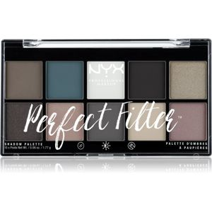 NYX Professional Makeup Perfect Filter Shadow Palette szemhéjfesték paletta