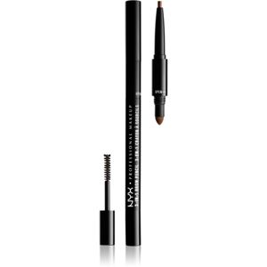 NYX Professional Makeup 3-In-1 Brow Pencil szemöldökformázó ceruza árnyalat 03 Soft Brown
