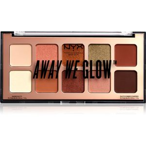 NYX Professional Makeup Away We Glow szemhéjfesték paletta