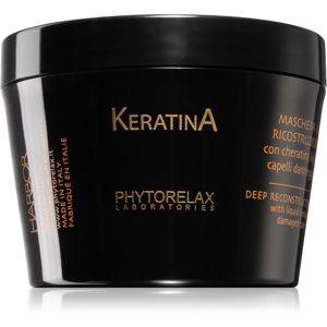Phytorelax Laboratories Keratina keratinos maszk a sérült haj ápolására 200 ml