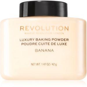 Makeup Revolution Baking Powder mattító lágy púder árnyalat Banana 42 g