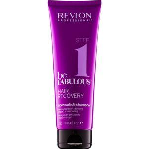 Revlon Professional Be Fabulous Hair Recovery tisztító sampon a haj kutikuláinak megnyitására