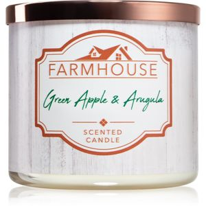 Kringle Candle Farmhouse Green Apple & Argula illatos gyertya 411 g