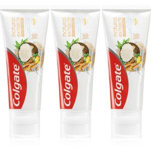 Colgate Natural Extracts Cononut Extract fogkrém 3 x 75 ml