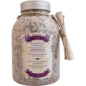 Bohemia Gifts & Cosmetics Bohemia Natur nyugtató gyógynövényes fürdősó levendulával 1200 g