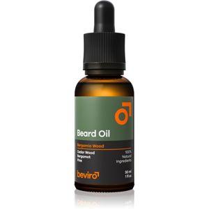 Beviro Bergamia Wood szakáll ápoló olaj fa illattal 30 ml