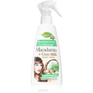 Bione Cosmetics Macadamia + Coco Milk öblítést nem igénylő spray kondicionáló 260 ml