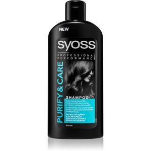 Syoss Purify & Care sampon zsíros fejbőrre és száraz hajvégekre 500 ml