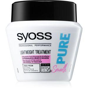 Syoss Pure Smooth tápláló maszk a puha és fénylő hajért