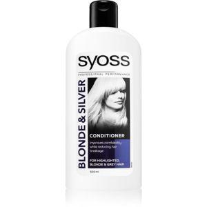Syoss Blonde & Silver kondicionáló szőke és ősz hajra 500 ml