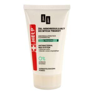 AA Cosmetics Help Acne Skin tisztító gél a faggyú termelődés ellen