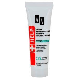 AA Cosmetics Help Acne Skin nyugtató éjszakai krém regeneráló hatással