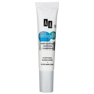 AA Cosmetics Collagen HIAL+ hidratáló és kisimító szemkrém 30+