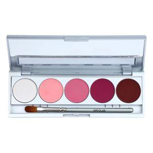 Kryolan Basic Eyes 5 színt tartalmazó szemhéjfesték paletta tükörrel és aplikátorral árnyalat Abu Dhabi Matt/Iridescent 7,5 g
