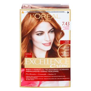 L'Oréal Paris Excellence Creme hajfesték árnyalat 7,43 Blonde Copper