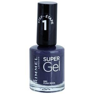 Rimmel Super Gel Step 1 géles körömlakk UV/LED lámpa használata nélkül árnyalat 062 Punk Rock 12 ml