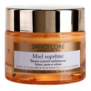 Sanoflore Miel Supreme Visage tápláló balzsam száraz és nagyon száraz bőrre