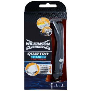 Wilkinson Sword Quattro Titanium Precision szőrnyíró és borotva a vizes borotválkozásra